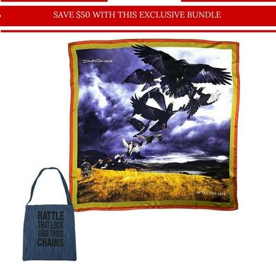 David Gilmour Rattle That Lock Scarf & Tote Bundle