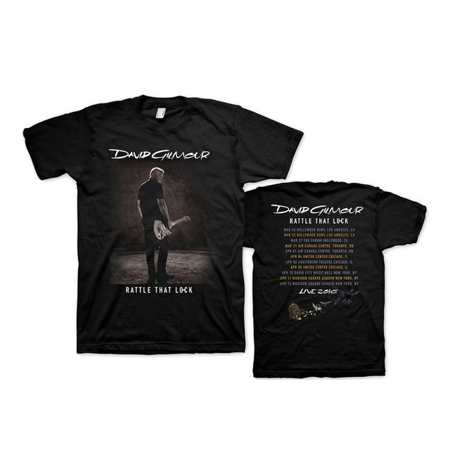 David Gilmour Rattle That Lock Sepia Photo US Tour T-Shirt
