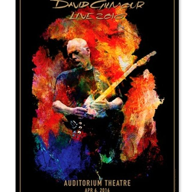 David Gilmour Live 2016 Auditorium Theater Lithograph