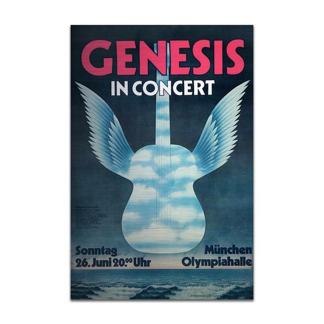 Genesis In Concert Guitar Wings Aluminum Print