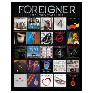 Foreigner Limited Edition Numbered Forty Years Art Print