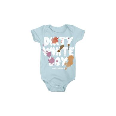 Foreigner Blue Dirty White Boy Onesie