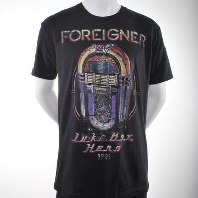 Foreigner Jukebox Hero Song List Tour T-Shirt