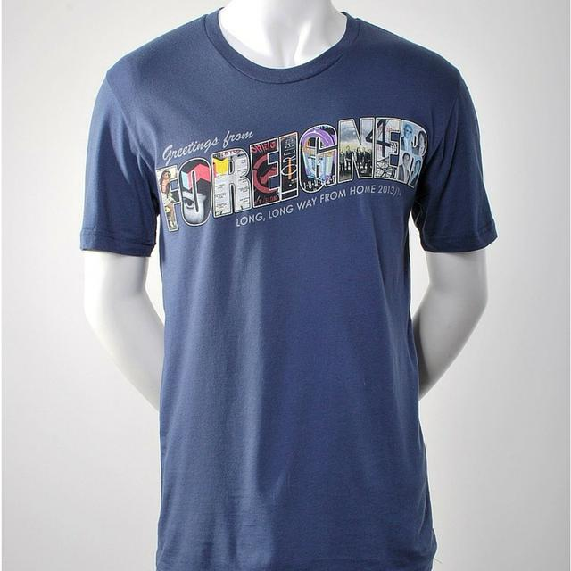 Dark Blue Greetings From Foreigner T-Shirt