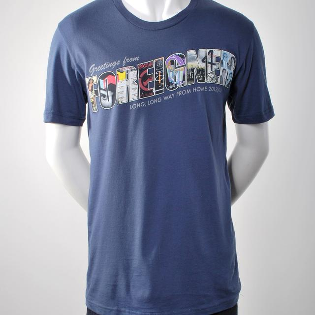 Blue Greetings From Foreigner T-Shirt