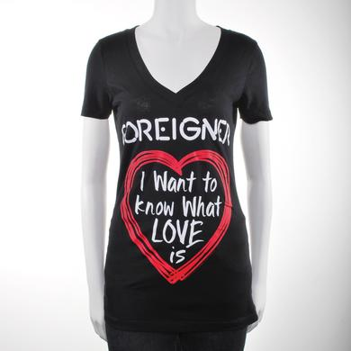 Foreigner Women's I Want To Know VNeck T-Shirt
