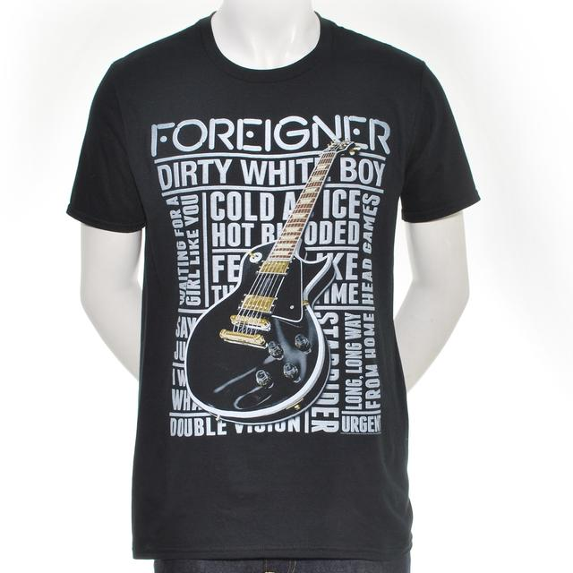 Foreigner Song Title Guitar T-Shirt