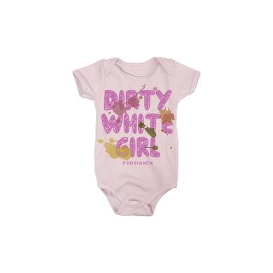 Foreigner Pink Dirty White Girl Onesie