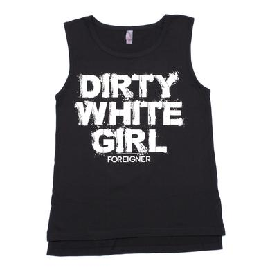 Foreigner Women's Dirty White Girl Pocket Tank