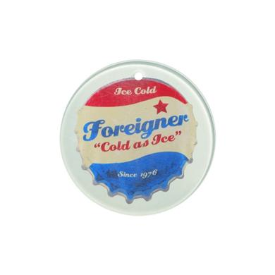 Foreigner Bottle Cap Holiday Ornament