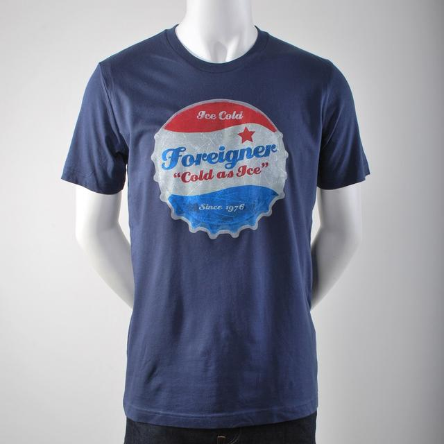 Foreigner Cold As Ice Vintage Bottle Cap T-Shirt