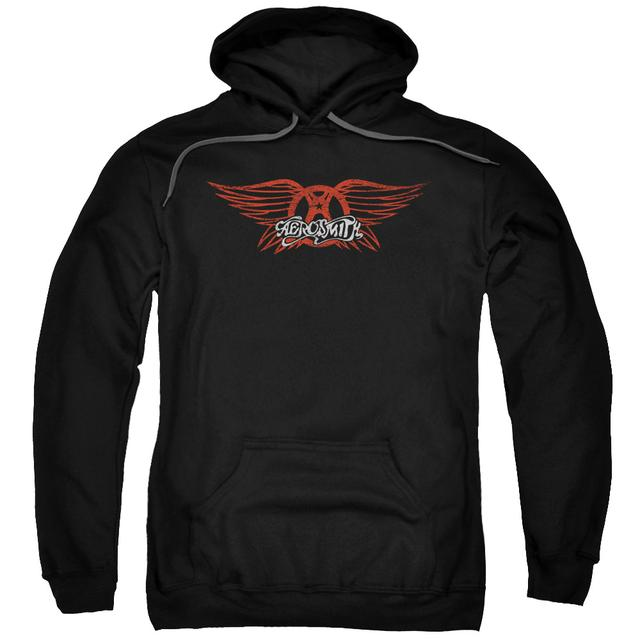 Aerosmith Hoodie | WINGED LOGO Pull-Over Sweatshirt
