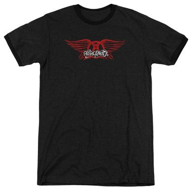 Aerosmith Shirt | WINGED LOGO Premium Ringer Tee