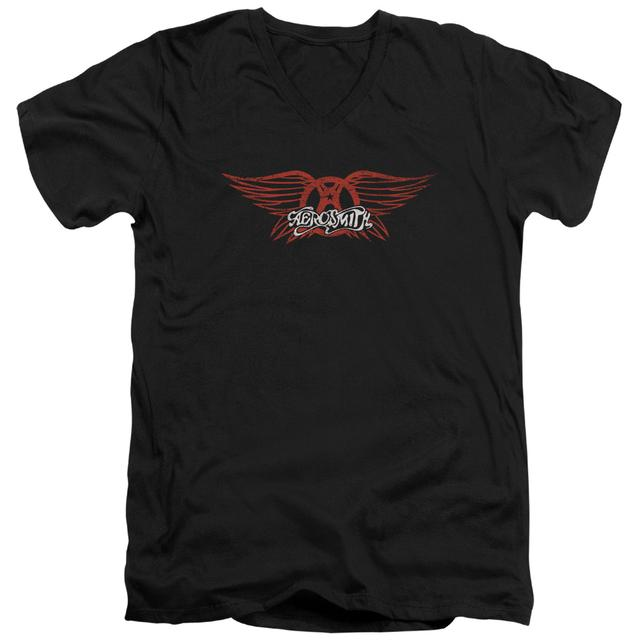 Aerosmith T Shirt (Slim Fit) | WINGED LOGO Slim-fit Tee