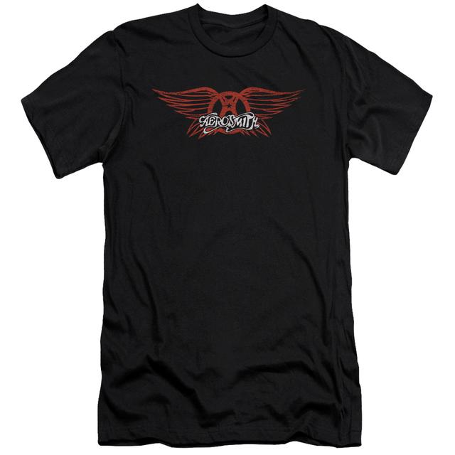 Aerosmith Slim-Fit Shirt   WINGED LOGO Slim-Fit Tee