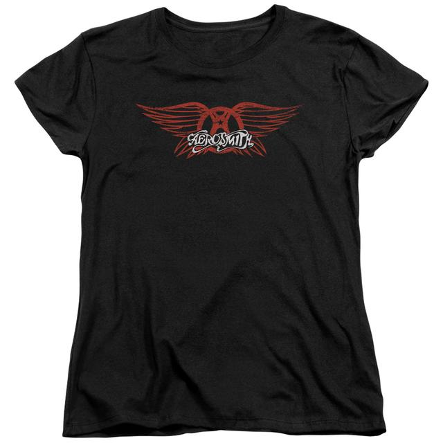 Aerosmith Women's Shirt | WINGED LOGO Ladies Tee