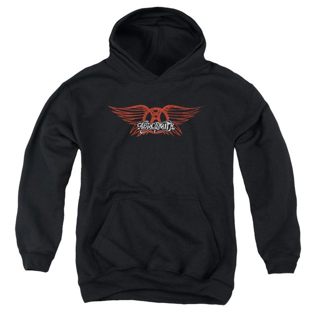 Aerosmith Youth Hoodie | WINGED LOGO Pull-Over Sweatshirt