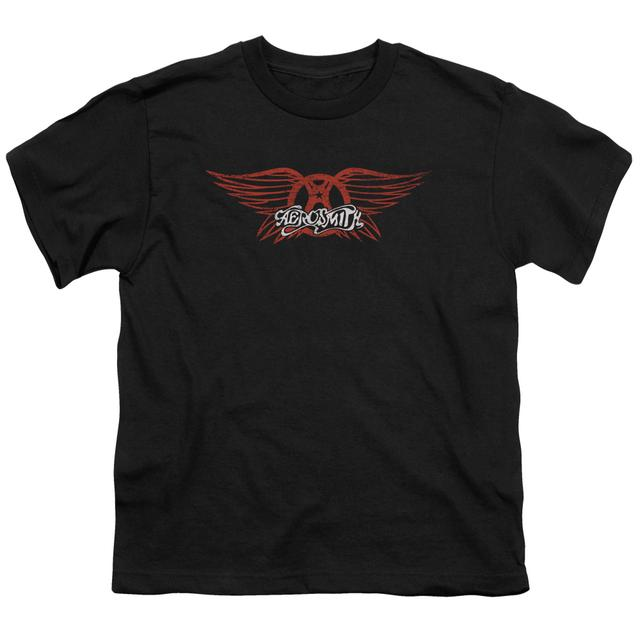 Aerosmith Youth Tee | WINGED LOGO Youth T Shirt
