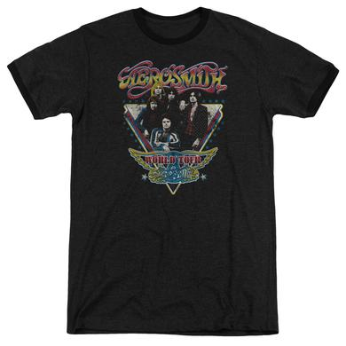 Aerosmith Shirt | TRIANGLE STARS Premium Ringer Tee