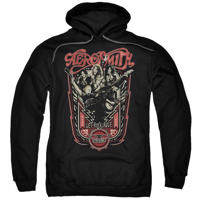Aerosmith Hoodie | LET ROCK RULE Pull-Over Sweatshirt