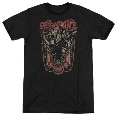Aerosmith Shirt | LET ROCK RULE Premium Ringer Tee