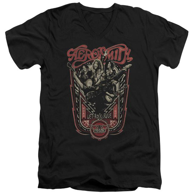 Aerosmith T Shirt (Slim Fit) | LET ROCK RULE Slim-fit Tee