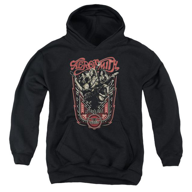 Aerosmith Youth Hoodie | LET ROCK RULE Pull-Over Sweatshirt