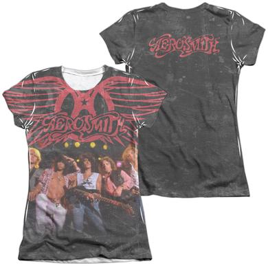 Aerosmith Junior's Shirt | STAGE (FRONT/BACK PRINT) Junior's Tee