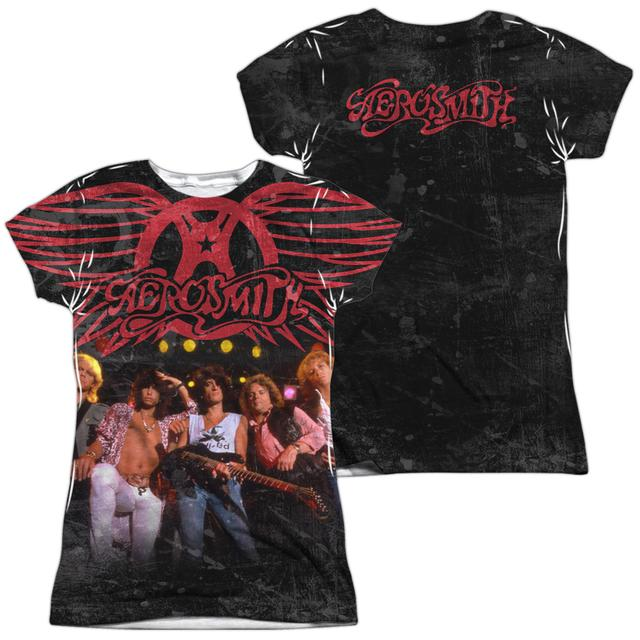 Aerosmith Junior's T Shirt | STAGE (FRONT/BACK PRINT) Sublimated Tee