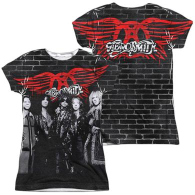 Aerosmith Junior's T Shirt | BRICK PAINT (FRONT/BACK PRINT) Sublimated Tee