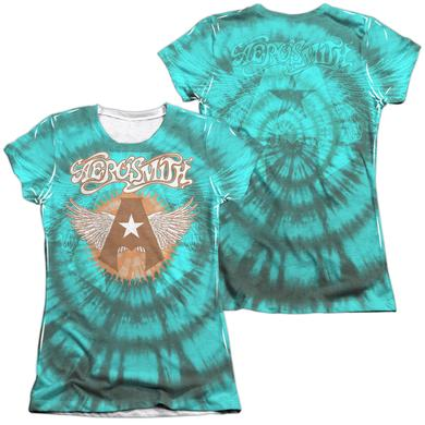 Aerosmith Junior's Shirt | TIE DYE (FRONT/BACK PRINT) Junior's Tee
