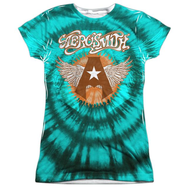 Aerosmith Junior's T Shirt | TIE DYE (FRONT/BACK PRINT) Sublimated Tee