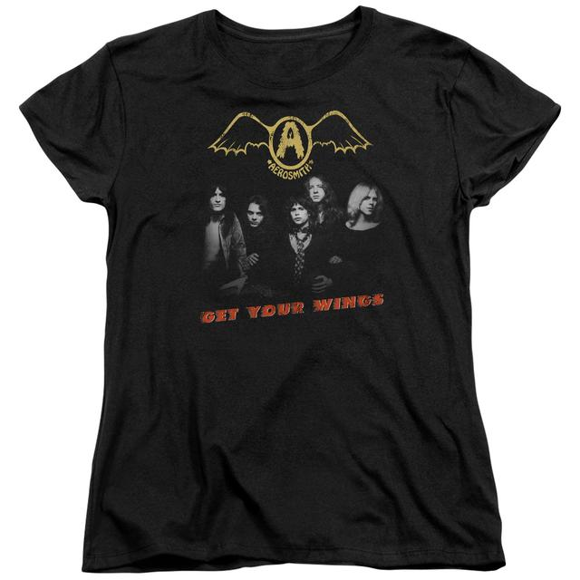Aerosmith Women's Shirt | GET YOUR WINGS Ladies Tee