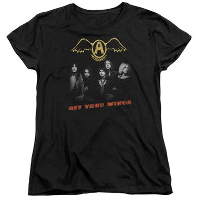 Aerosmith Women's Shirt | GET YOUR WINGS Ladies Tee