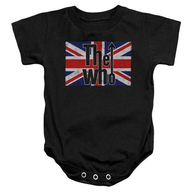 The Who Baby Onesie | FLAG LOGO Infant Snapsuit