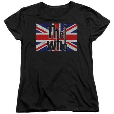 The Who Women's Shirt | FLAG LOGO Ladies Tee