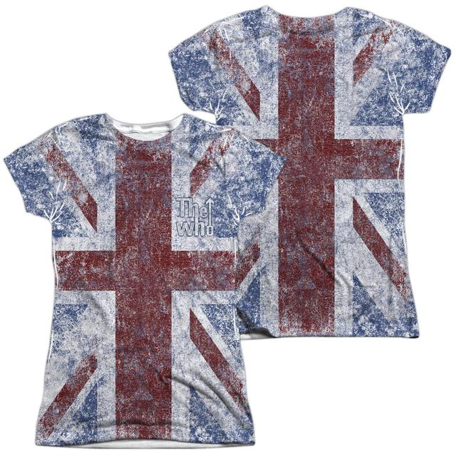 The Who Junior's T Shirt | UNION JACK (FRONT/BACK PRINT) Sublimated Tee