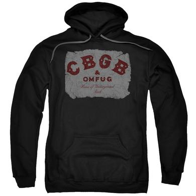 CBGB Hoodie | CRUMBLED LOGO Pull-Over Sweatshirt