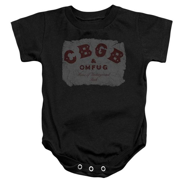 CBGB Baby Onesie | CRUMBLED LOGO Infant Snapsuit