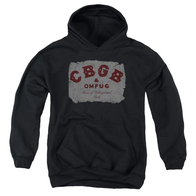 CBGB Youth Hoodie | CRUMBLED LOGO Pull-Over Sweatshirt