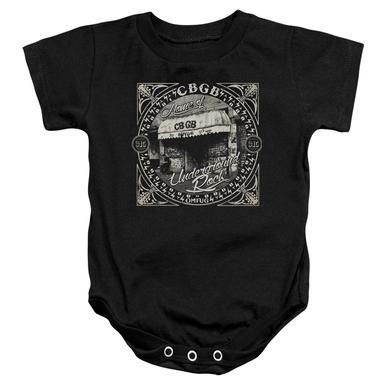 CBGB Baby Onesie   FRONT DOOR Infant Snapsuit