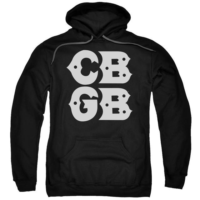 CBGB Hoodie | STACKED LOGO Pull-Over Sweatshirt
