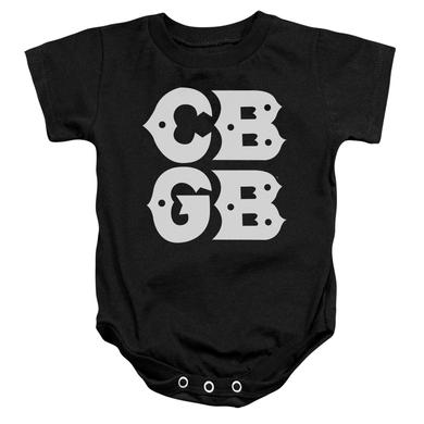 CBGB Baby Onesie | STACKED LOGO Infant Snapsuit