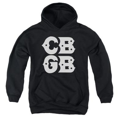 CBGB Youth Hoodie | STACKED LOGO Pull-Over Sweatshirt