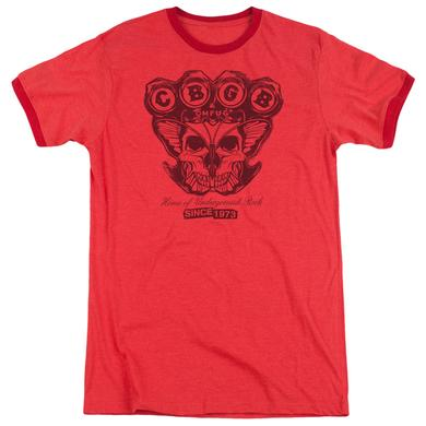 CBGB Shirt | MOTH SKULL Premium Ringer Tee