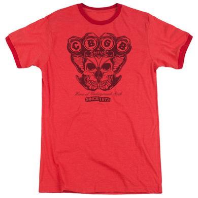 CBGB Shirt | MOTH SKULL Premium Ringer Tee