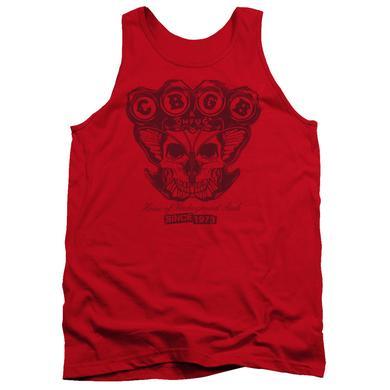 CBGB Tank Top | MOTH SKULL Sleeveless Shirt