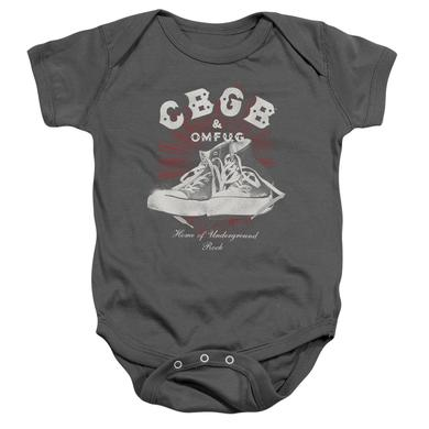CBGB Baby Onesie   HIGH TOPS Infant Snapsuit