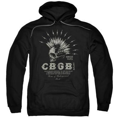 CBGB Hoodie   ELECTRIC SKULL Pull-Over Sweatshirt