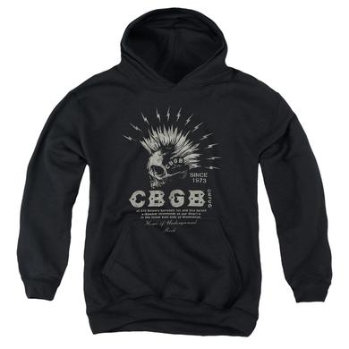 CBGB Youth Hoodie | ELECTRIC SKULL Pull-Over Sweatshirt